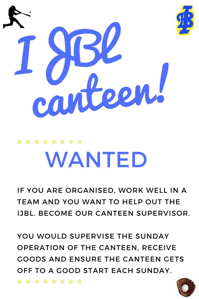 WANTED: Canteen Co-ordinator